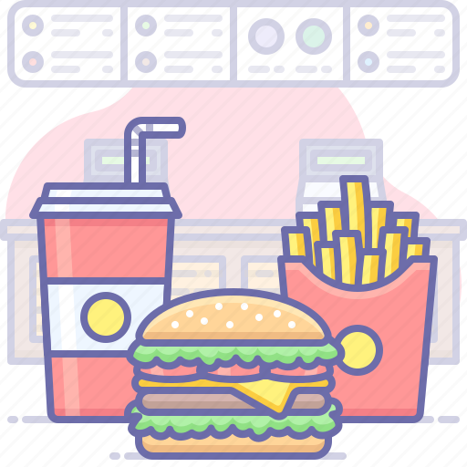 burger, food, french fries icon