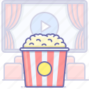 cinema, food, popcorn icon