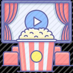 cinema, popcorn, food