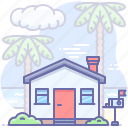 beach, building, house icon