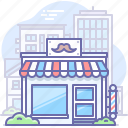 barber, barbershop, building, shop, store icon