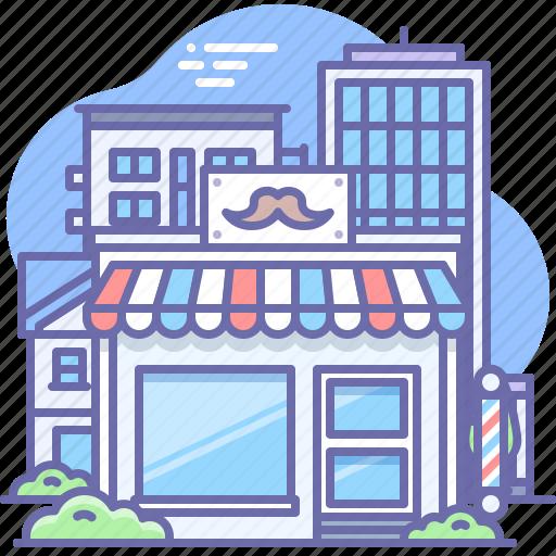 Barber, barbershop, building icon - Download on Iconfinder