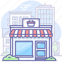 building, shop, store icon