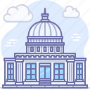 building, government, house, landmark, politics, white icon