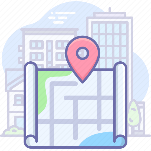 city, location, map icon