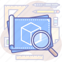 blueprint, design, plan icon