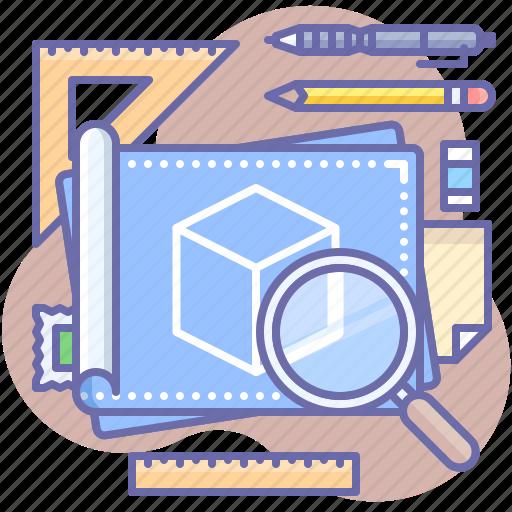 blueprint, design, plan icon