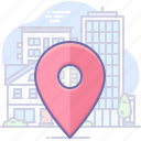 city, gps, locate icon