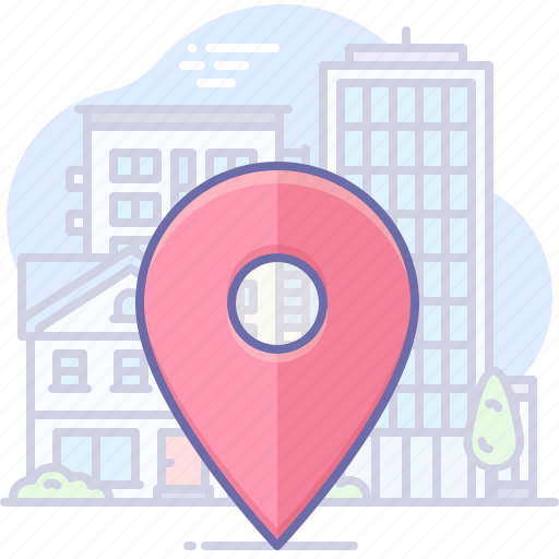 city, gps, locate icon