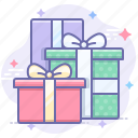 boxes, gifts, presents, surprise icon