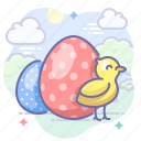 chick, easter, eggs, holiday icon