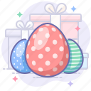 easter, eggs, holiday, present icon