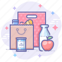 bag, food, package, shopping icon