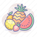 ananas, food, fruits, watermelon icon
