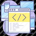 code, editor, html, website icon