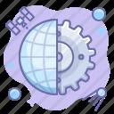 control, gear, internet, web icon