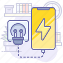charge, charging, mobile, smartphone icon