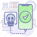 charging, complete, mobile, smartphone icon