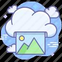 cloud, online, photo, print icon