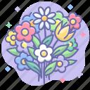 bouquet, flower, flowers, present icon