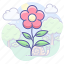 eco, flower, garden, nature icon