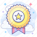 achievement, award, badge, reward icon
