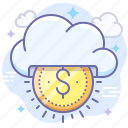 business, cloud, money, seo icon