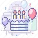 birthday, cake, holiday, party icon