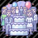 cake, holiday, party, wedding icon