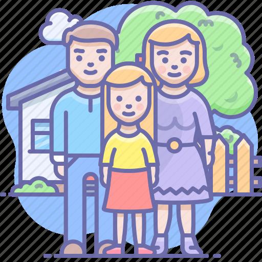 child, family, man icon