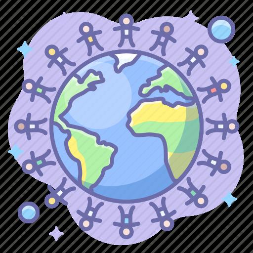 friendship, peace, world icon