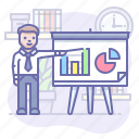 business, man, presentation icon