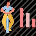 character, builder, business, analytics, statistics, increase, profit, margin, productive