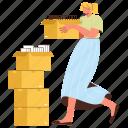 character, builder, office, workflow, paperwork, document, file, sort, storage, box