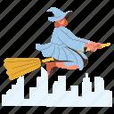 character, builder, transportation, travel, witch, broomstick, supernatural
