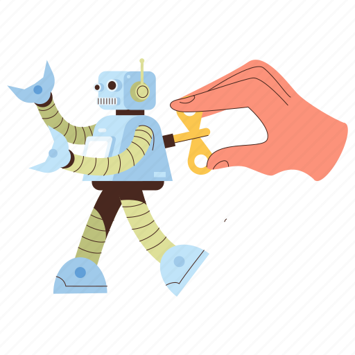 Hand, gestures, technology, maintenance, automatic, robot, bot illustration - Download on Iconfinder