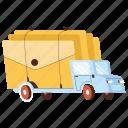 transportation, delivery, mail, envelope, email, truck, vehicle, transport, logistic