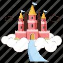 travel, achievements, castle, road, destination, accomplishment, winner, building