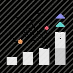 business, man, chart, graph, analytics, statistics, arrow, increase