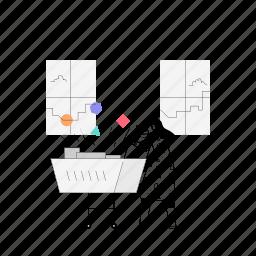 e, commerce, woman, shopping, shop, cart