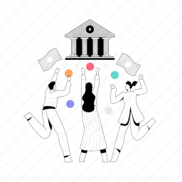 finance, man, woman, bank, banking, savings, building, cash, money