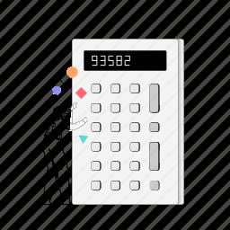 tools, man, calculator, math, accounting, mathematics, calculate
