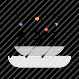 workflow, team, work, boat, sailing, sail, transportation, travel