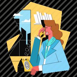 customer, serivce, woman, female, phone, telephone