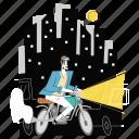 motorcycle, motorbike, transport, transportation, man
