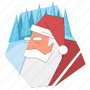 santa, claus, christmas, man, beard, celebration