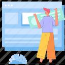 man, layout, website, browser, webpage