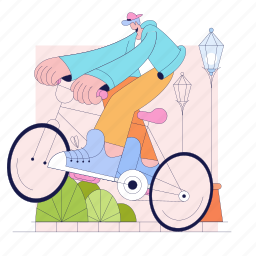 man, bike, biccyle, street, light, transportation