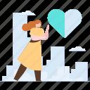 favourite, heart, rating, woman, social, media