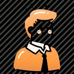 avatars, business, man, suit, office, uniform, formal